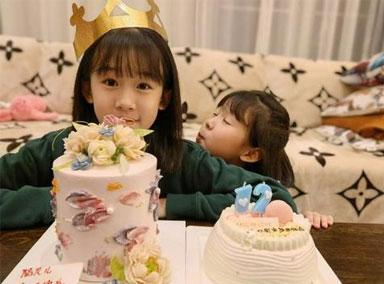 陆毅为12岁女儿庆生 贝儿蛋糕前许愿颜值太高堪比校花