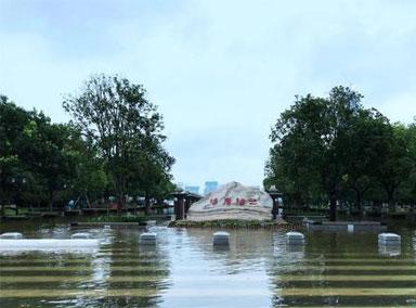 武汉市汉口江滩建成18年来