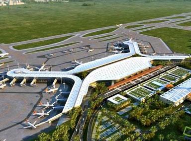 海口美兰国际机场二期展初容