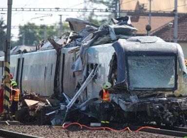 捷克再次发生火车相撞事故