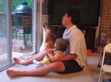 看爸爸在家是怎么带孩子的,原来老外也是这样